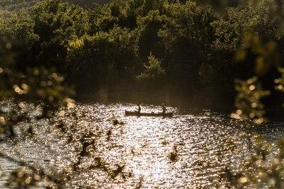 Canoë sur le lac d'Artignosc
