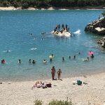 Un coin de baignade à Bauduen