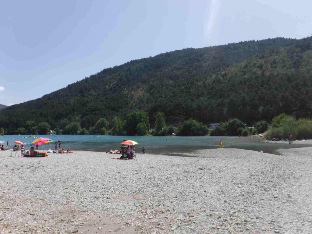 Lake of Castillon le Cheiron