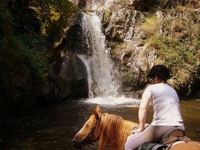 Horse riding near Régusse Verdon Gorges