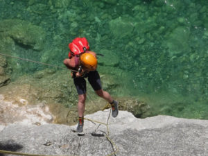 Canyoning abseil in Verdon France