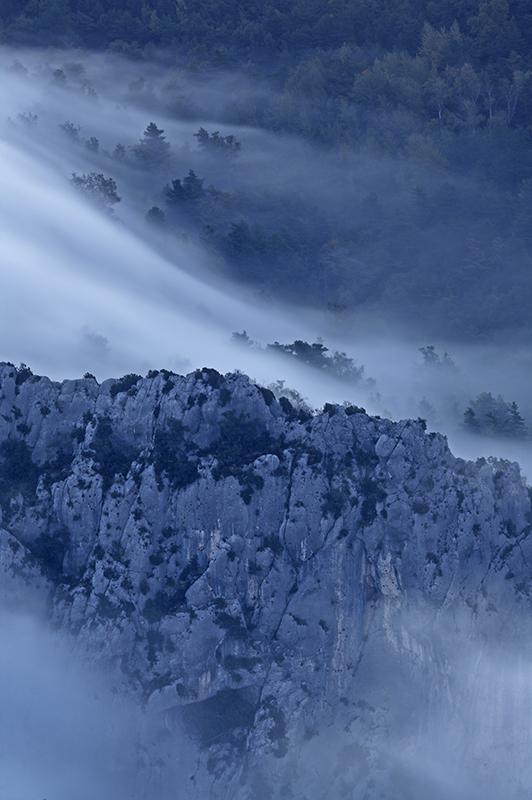Brume dans les Gorges du Verdon