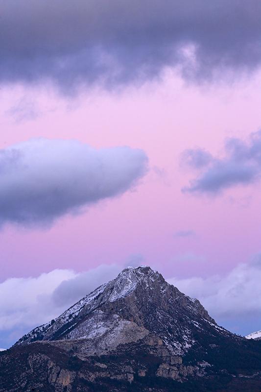 La neige est présente sur les monts verdoniens