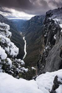 Le Verdon sous la neige