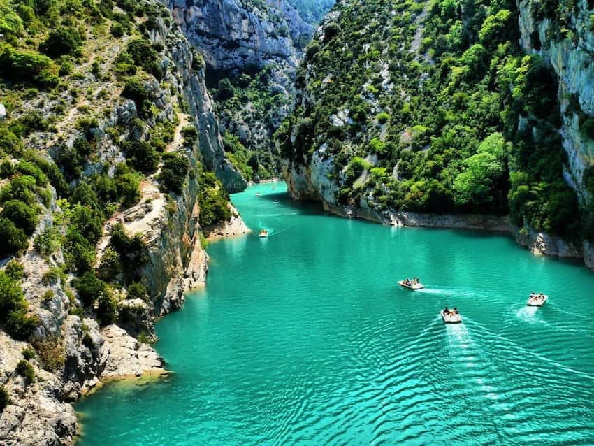 canoeing in the gorges du verdon