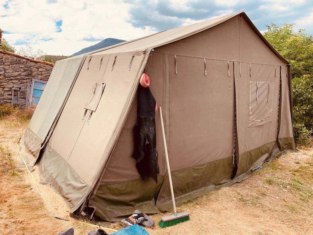 tente militaire matériel canyoning