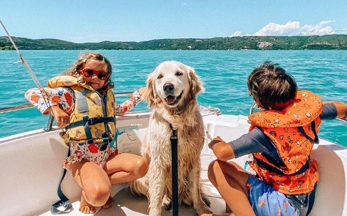 Activités aquatiques dans le Verdon avec son chien
