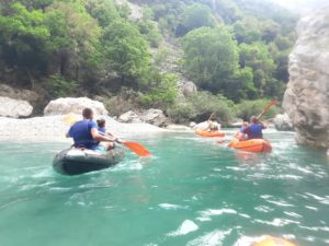 Canoe aventure Grand Canyon du Verdon