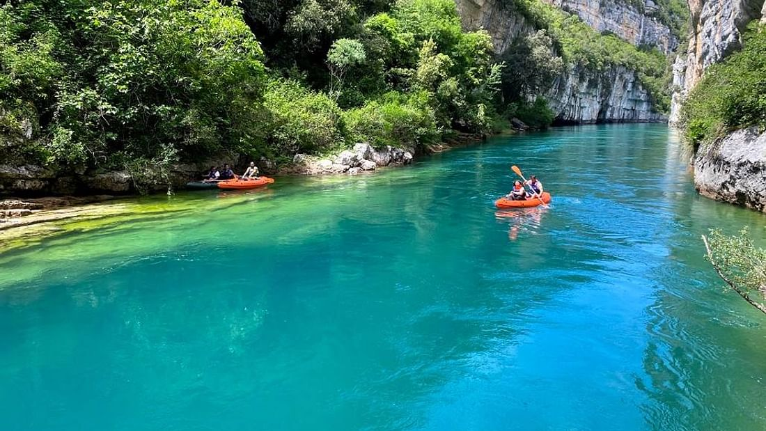 parcours canoe dans le Verdon